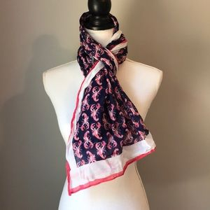 Lobster Nautical Sea Scarf one size